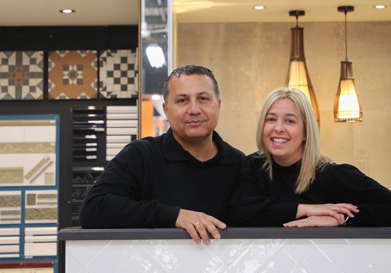 Tim and Lita Zervas of Jacoba Tiles
